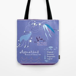 Aquarius February Tote Bag
