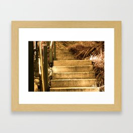 Staring at Stairs Framed Art Print