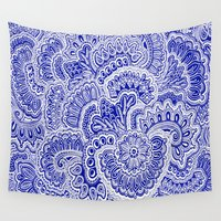 navy Wall Tapestries featuring Navy by Samantha Jeffrey