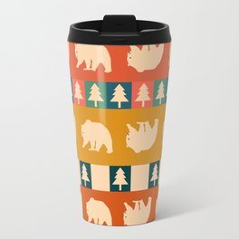 Multicolored bear pattern Travel Mug
