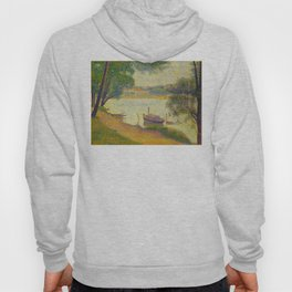 Gray weather Grande Jatte 1888 Oil Painting Pointillism Post-Impressionism Impressionism Modern art Hoody