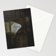 my window looked out upon nothing Stationery Cards