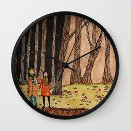 Step into Autumn Wall Clock