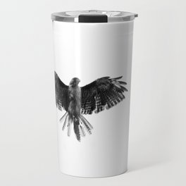 Black Bird White Sky Travel Mug