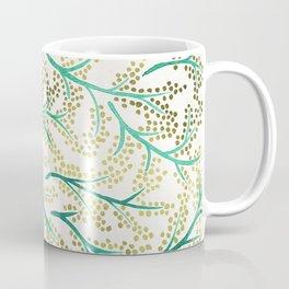 Green & Gold Branches Coffee Mug