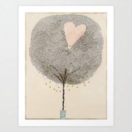 how love grows Art Print