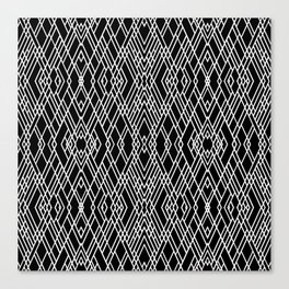 Art Deco Black and White Canvas Print