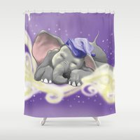 sleep Shower Curtains featuring Sleep by Torro