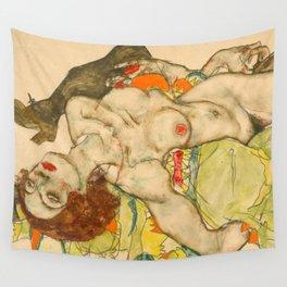 "Egon Schiele ""Female Lovers"" Wall Tapestry"
