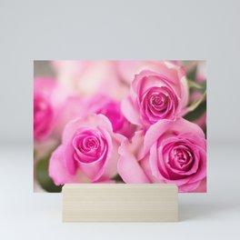 Hot Pink Roses Mini Art Print