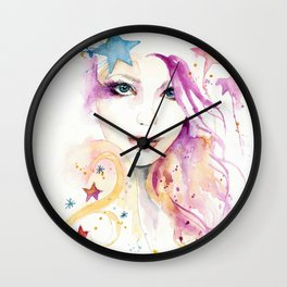Galaxy Woman Wall Clock