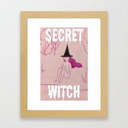 Secret Witch Framed Art Print