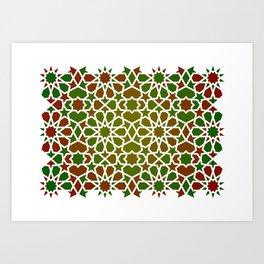 Red & Green Art Print