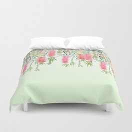 bottle brush tree flower Duvet Cover