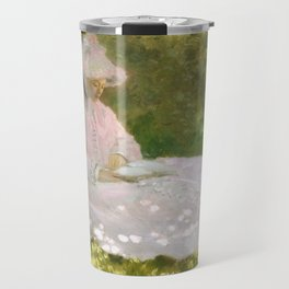 Springtime by Claude Monet Travel Mug