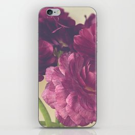 Romantic Ranunculus iPhone Skin