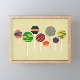 Sweet lollipop Framed Mini Art Print