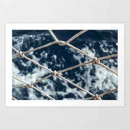Nautical rope Art Print