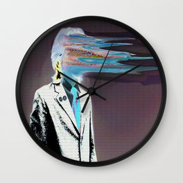 NO ONE AROUND HERE HAS THE GUTS INVERT Wall Clock