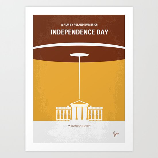 No249 My INDEPENDENCE DAY minimal movie poster Art Print