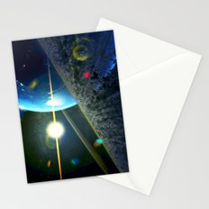 until the moon is no more. Asteroid Field on Earth Stationery Cards
