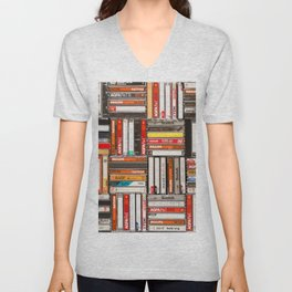 Something Nostalgic - III - Colored Version #decor #buyart #society6 Unisex V-Neck