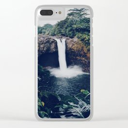 Big Island Waterfall Clear iPhone Case