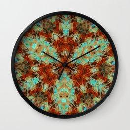 Scifi Rustic Geometric Wall Clock
