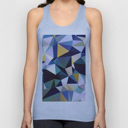 Abstract Geometric Triangle Pattern Unisex Tank Top