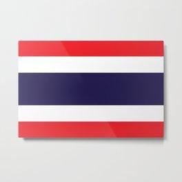 Thailand Flag Metal Print