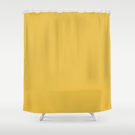 Mustard Yellow  Solid Colour Shower Curtain