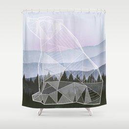 Geometric Nature - Bear (Full) Shower Curtain