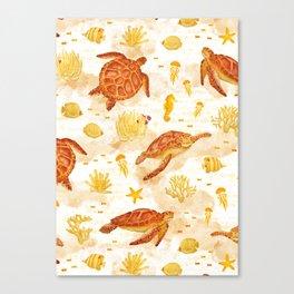 Hawksbill Sea Turtles Canvas Print