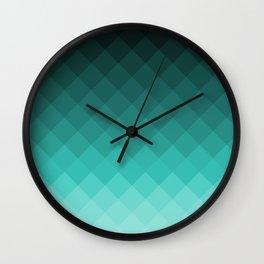 Ombre squares Wall Clock