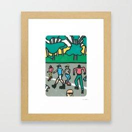 CENTRAL PARK DANCE SKATERS Framed Art Print