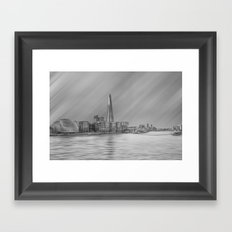 The London Shard And River Thames Framed Art Print