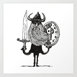 Sword, Beard & Shield Art Print