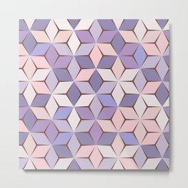 Pink & Purple Geometery Metal Print