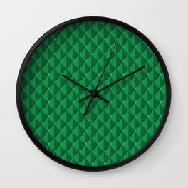 Jade Dragon Scales Wall Clock