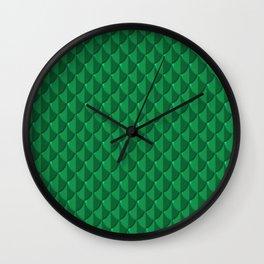 Jade Dragon Scales Wall Clock