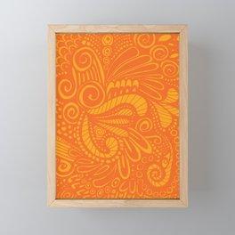 Wild Pop Orange Framed Mini Art Print