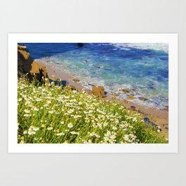 California Seaside in Bloom by Reay of Light Art Print