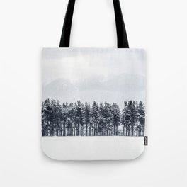 White winter Tote Bag