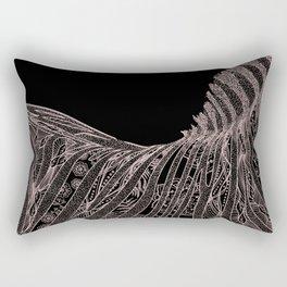Gorgeous Abstract Zebra Flowers Design Rectangular Pillow