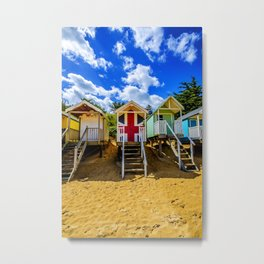 Union Jack Beach Hut 2 Metal Print