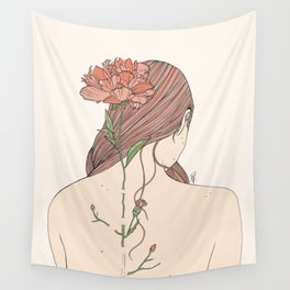 Let Me Blossom Wall Tapestry