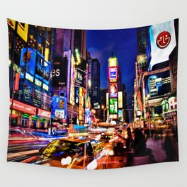 Times scuare Wall Tapestry