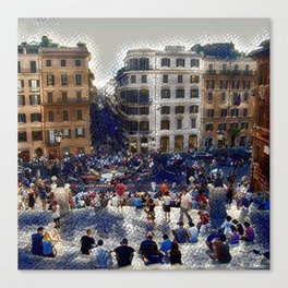 The Spanish Steps 4138 - Rome, Italy Canvas Print