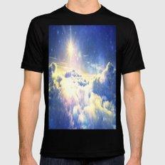 Galaxy Clouds : Heaven Black MEDIUM Mens Fitted Tee
