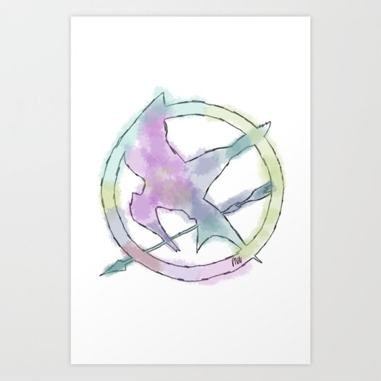 Mockingjay Watercolors Art Print